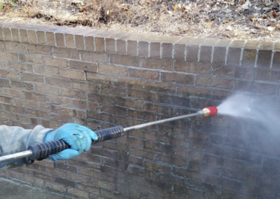 Brick Wall Pressure Washing